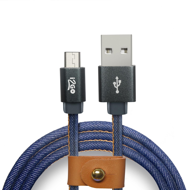 Cabo i2GO Pro Micro USB 1.5M - Jeans/Ganga