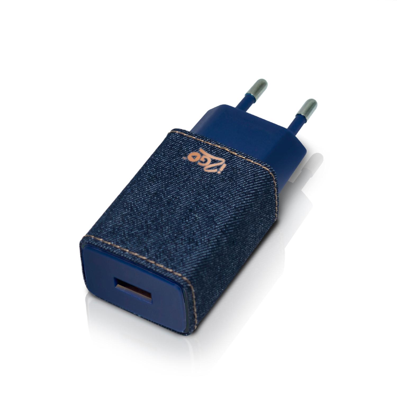 Carregador i2GO PRO Smart 2 USB 2.4A - Jeans/Ganga